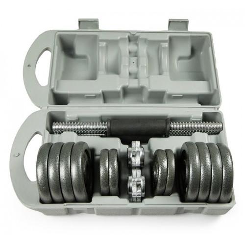 Набор металлических гантелей в чемодане ATLAS SPORT 15кг