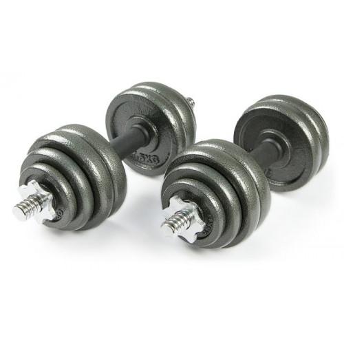Набор металлических гантелей 2*15 кг Atlas Sport