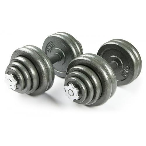 Набор металлических гантелей 2*30 кг Atlas Sport