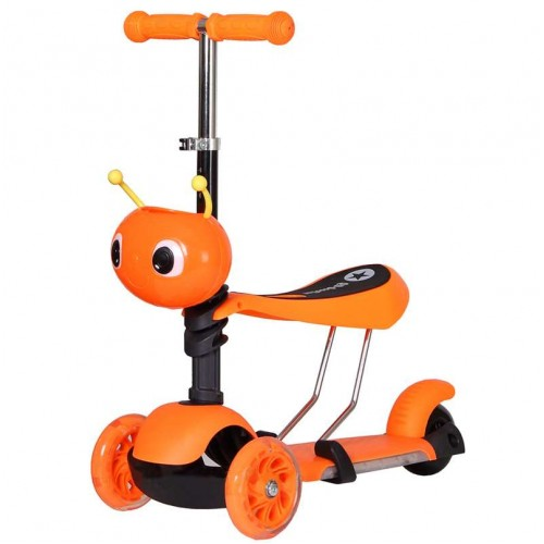 Самокат Ausini 4109B 3 в 1 оранжевый