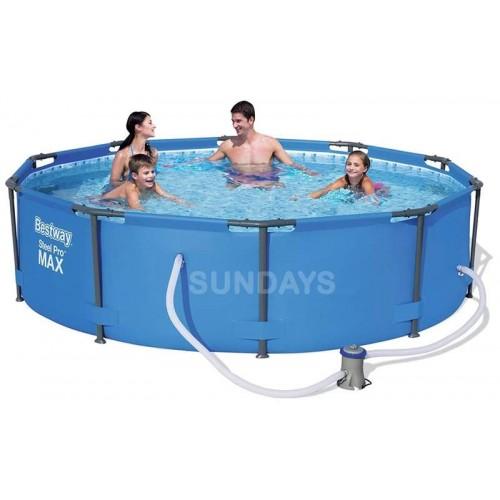Каркасный бассейн Bestway Steel Pro MAX 14415 10' x 39,5/305x100см+фильтр-насос