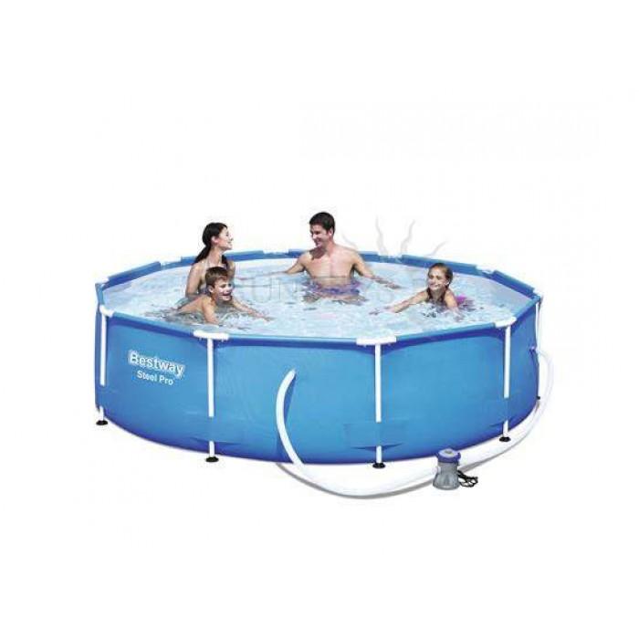 Каркасный бассейн Bestway Steel Pro Max 4678 л, 56408, 305х76 см + фильтр-насос 58381,+ ремкомплект купить в Минске