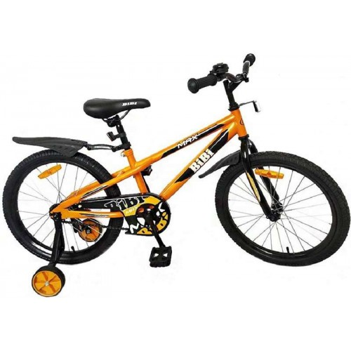"""Детский велосипед BiBi Max 18"""" (оранжевый, 2020)"""