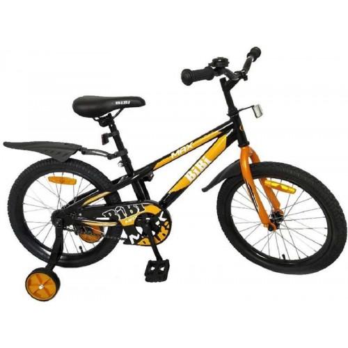 """Детский велосипед BiBi Max 20"""" (черный/оранжевый, 2020)"""