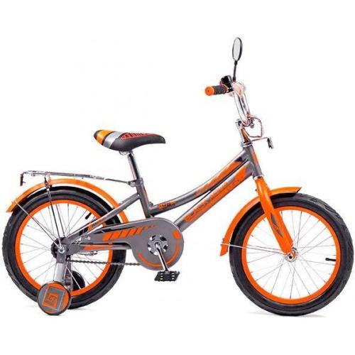 """Велосипед Black Aqua Lucky 12"""" (серый/оранжевый, 2018)"""