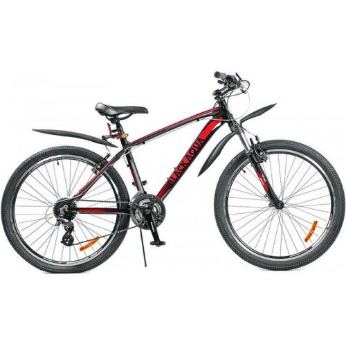"""Велосипед Black Aqua Cross 2691 V 26"""" (красный/черный, 2018)"""