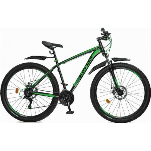"""Велосипед Black Aqua Cross 2981 D+ 29"""" (черный/зеленый, 2018)"""