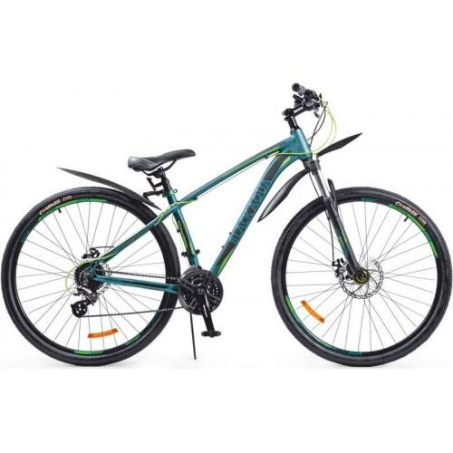"""Велосипед Black Aqua Cross 2991 D+ 29"""" (зеленый/салатовый, 2018)"""