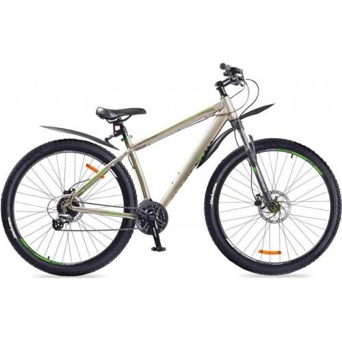 """Велосипед Black Aqua Cross 2992 HD+ 29"""" (серый/зеленый, 2018)"""