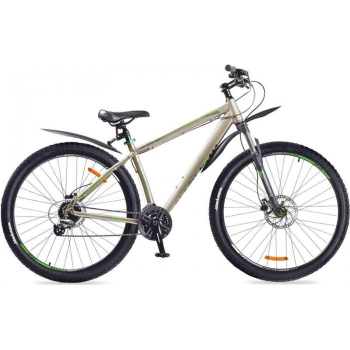 """Велосипед Black Aqua Cross 2992 HD+ 29"""" (серый/зеленый, 2018) купить в Минске"""