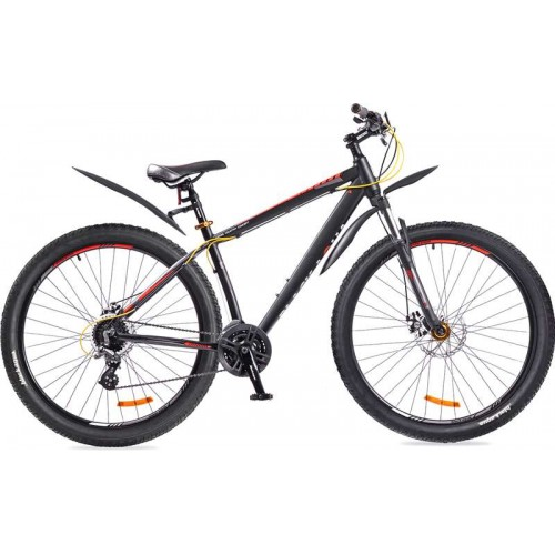 """Велосипед Black Aqua Cross 2992 HD+ 29"""" (черный/оранжевый, 2018)"""