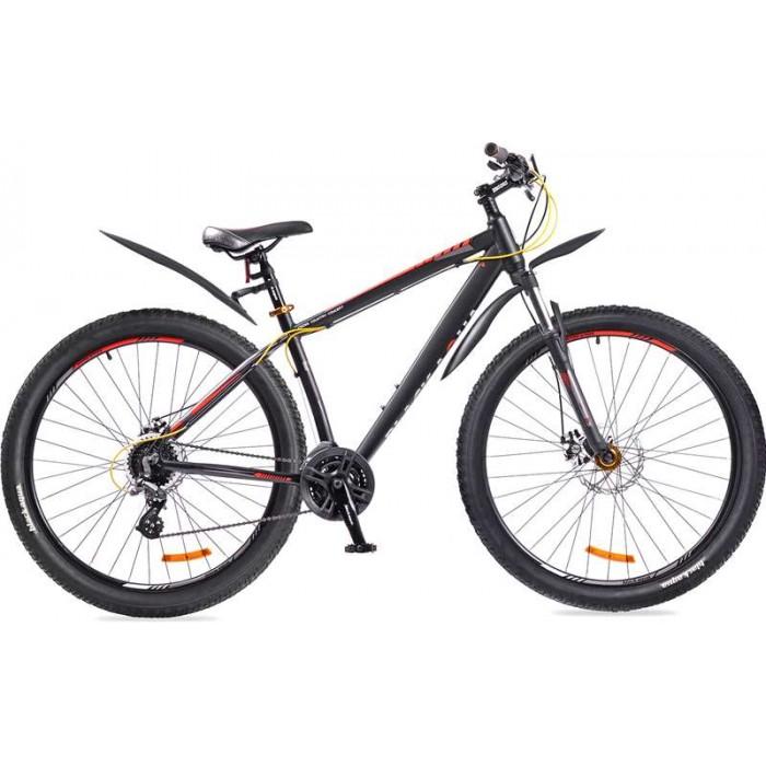 """Велосипед Black Aqua Cross 2992 HD+ 29"""" (черный/оранжевый, 2018) купить в Минске"""