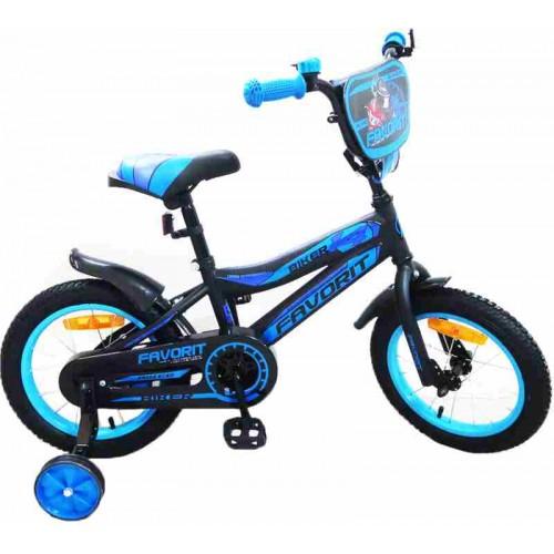"""Велосипед Favorit Biker 16"""" (черный/синий, 2019)"""