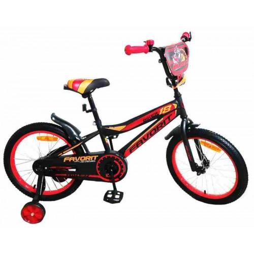 """Велосипед Favorit Biker 16"""" (черный/красный, 2019)"""