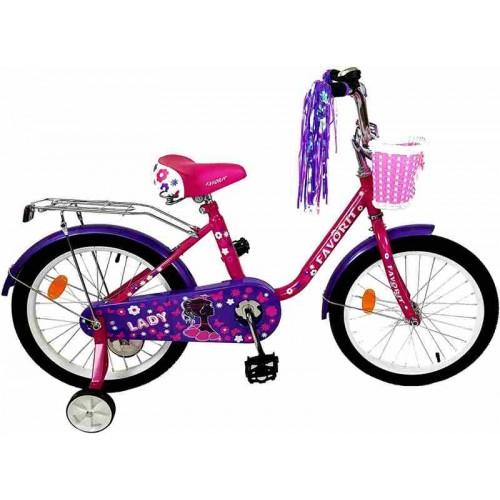 """Велосипед Favorit Lady 18"""" (малиновый/фиолетовый, 2019)"""