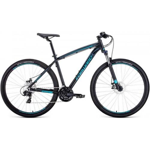 """Велосипед Forward Next 2.0 Disc 29"""" (черный/голубой, 2020)"""