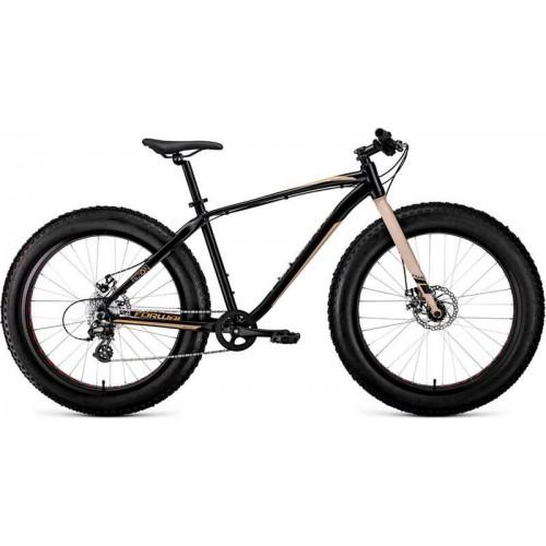 """Велосипед Forward Bizon 26"""" (черный/бежевый, 2020)"""