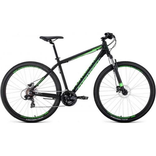 """Велосипед Forward Apache 3.0 Disc 29"""" (черный/зеленый, 2020)"""