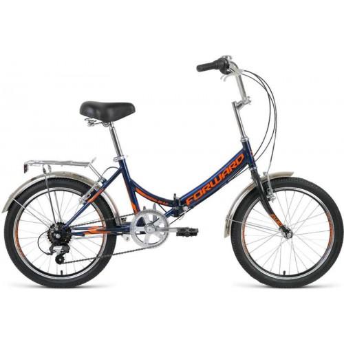 """Велосипед Forward Arsenal 2.0 20"""" (темно-синий/оранжевый, 2020)"""