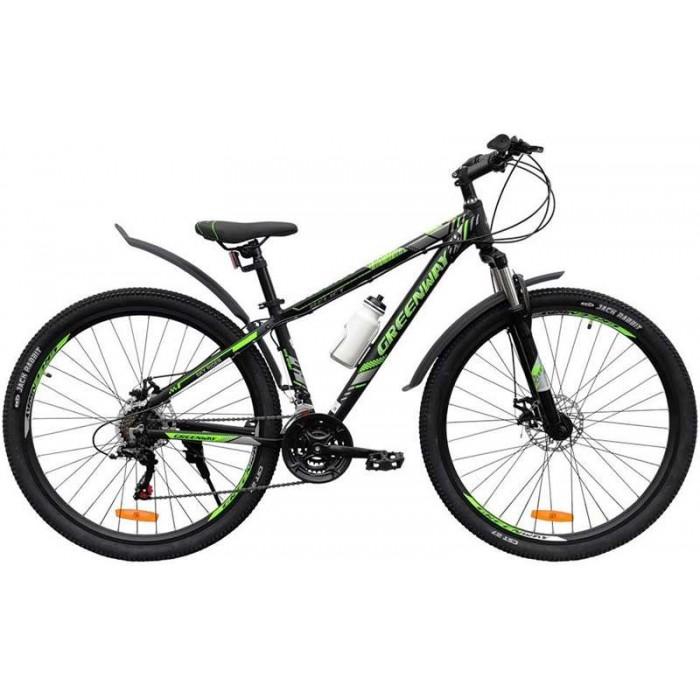 """Велосипед Greenway Relict 29"""" (черный/зеленый, 2020) купить в Минске"""