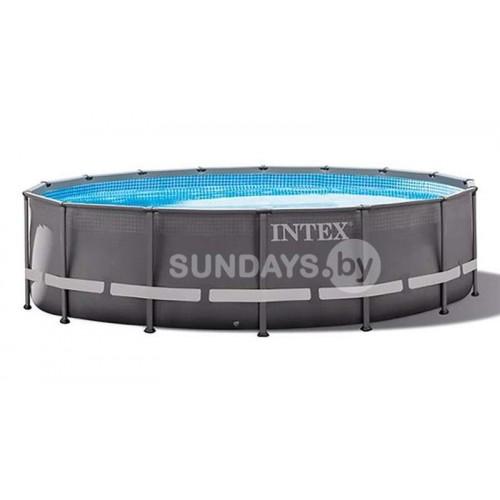 26330 Каркасный бассейн Intex ULTRA XTR™ FRAME 549х132см +фильтр-насос 7900 л.ч, лестница, тент, подложка