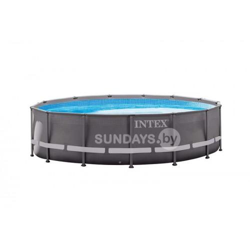 26334 Каркасный бассейн Intex ULTRA XTR™ FRAME 610х122см +фильтр-насос 7900 л.ч, лестница, тент, подложка