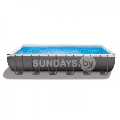 26368 Каркасный бассейн Intex ULTRA XTR™ PREMIUM 732х366х132см +фильтр-насос с хлоргенератором 6000 л.ч, лестница, тент, подложка, набор для чистки, воллейбол.сетка