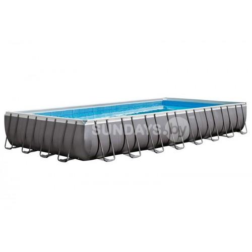26378 Каркасный бассейн Intex ULTRA XTR™ PREMIUM 975х488х132см +фильтр-насос с хлоргенератором 10000 л.ч, лестница, тент, подложка, набор для чистки, воллейбол.сетка