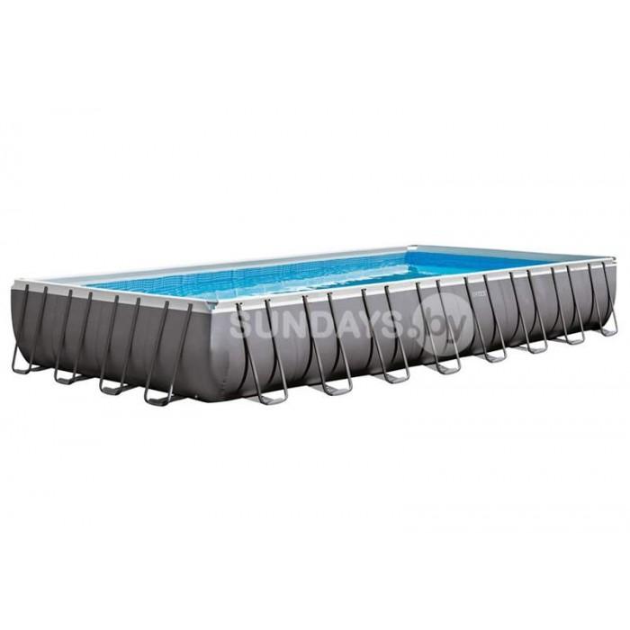 26378 Каркасный бассейн Intex ULTRA XTR™ PREMIUM 975х488х132см +фильтр-насос с хлоргенератором 10000 л.ч, лестница, тент, подложка, набор для чистки, воллейбол.сетка купить в Минске