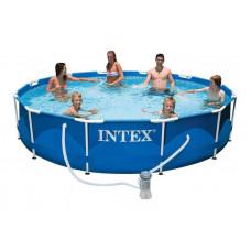 28212 Каркасный бассейн Intex METAL FRAME 366х76 см Intex + фильтр-насос 2006 л/ч