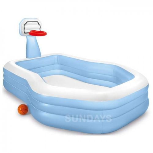 57183 Семейный надувной бассейн Intex Shootin Hoops Family Pool
