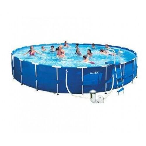 Каркасный бассейн Intex 28262/54938 732х132 см + фильтр-насос, картриджный фильтр, лестница, подстилка, покрывало