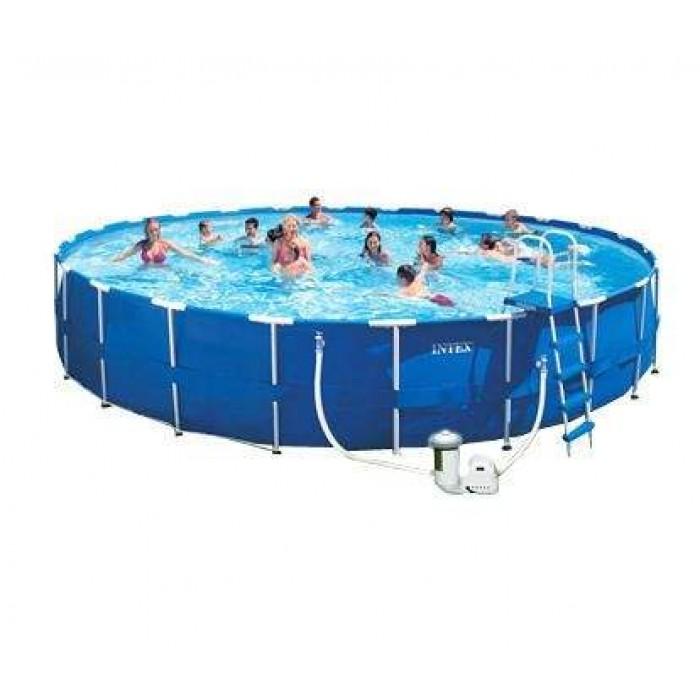Каркасный бассейн Intex 28262/54938 732х132 см + фильтр-насос, картриджный фильтр, лестница, подстилка, покрывало купить в Минске