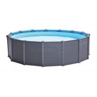 Каркасный бассейн Intex GRAPHITE GRAY PANEL 26382 478х124см + песочный фильтр-насос, лестница, тент, подстилка купить в Минске