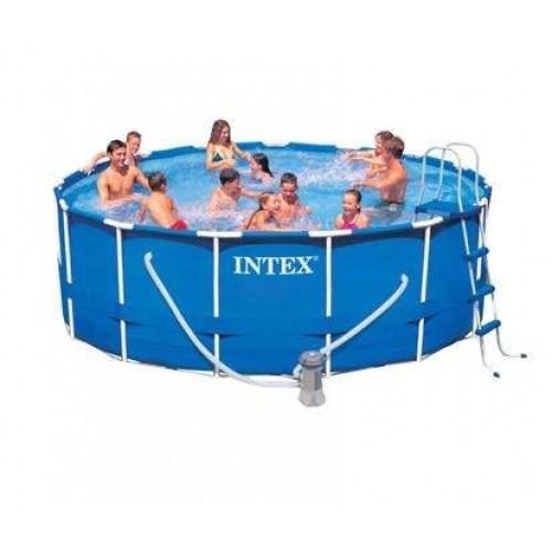 Каркасный бассейн Intex Metal Frame 28236/54946 457х122 см + фильтр-насос, картриджный фильтр, лестница, подстилка, покрывало