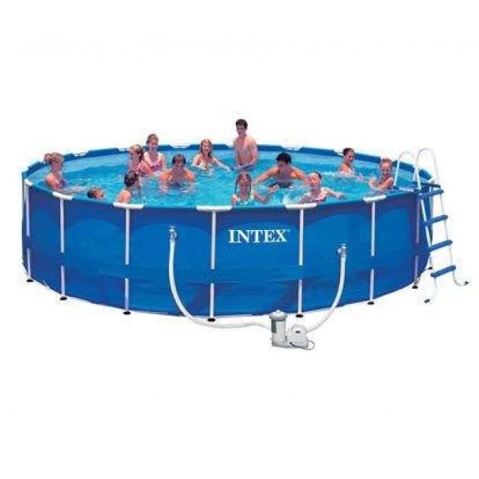 Каркасный бассейн Intex Metal Frame 28252/56952 549х122 см + фильтр-насос, картриджный фильтр, лестница, подстилка, покрывало купить в Минске