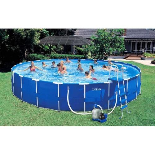Каркасный бассейн Intex Metal Frame 54948 732x132 см + фильтр-насос, картриджный фильтр, лестница, подстилка, покрывало