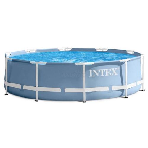 Каркасный бассейн Intex Prism Frame 26728NP 457х84см + фильтр-насос, лестница, тент, подстилка