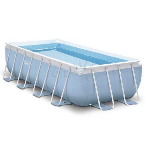 Каркасный бассейн Intex Prism Frame 26778 488х244х107см + фильтр-насос, лестница, тент, подстилка
