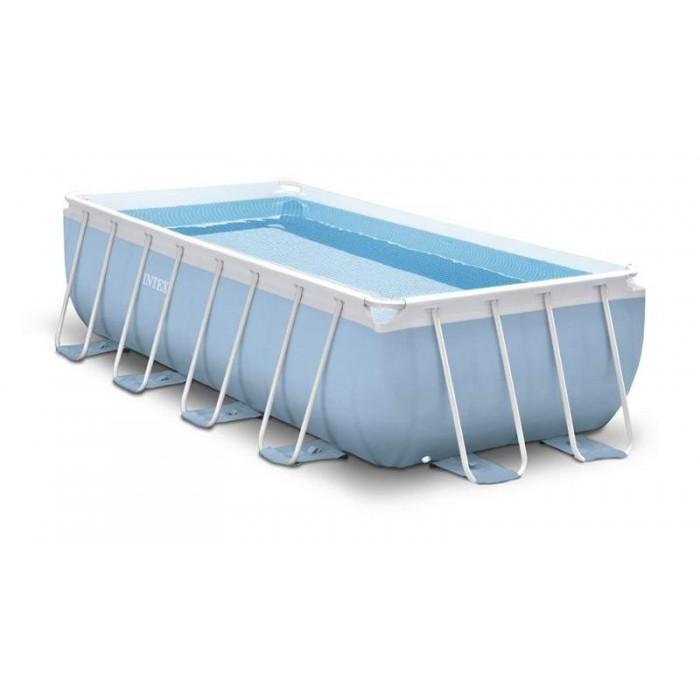 Каркасный бассейн Intex Prism Frame 28318 488х244х107 см + фильтр-насос, лестница, тент, подстилка купить в Минске