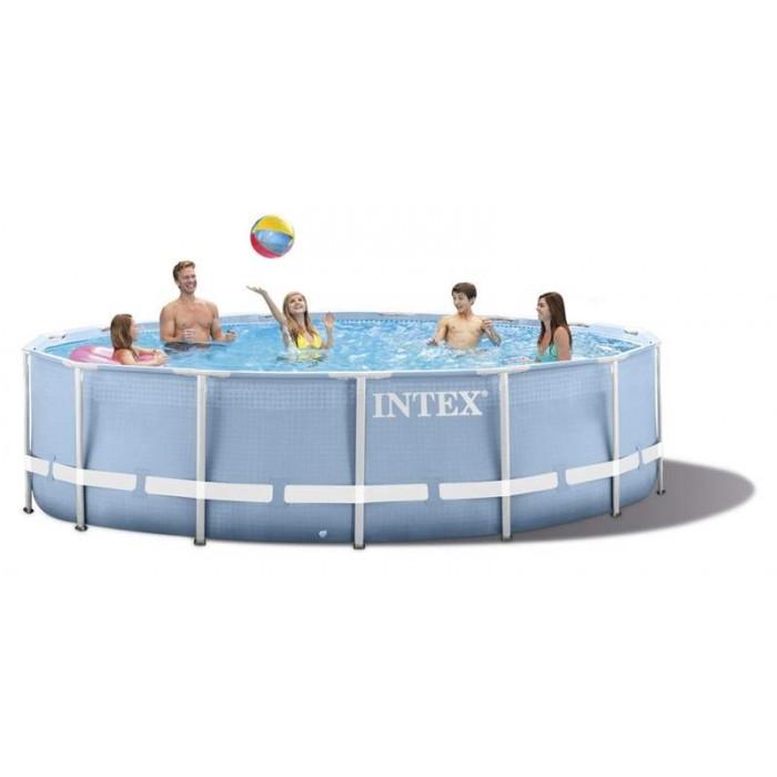 Каркасный бассейн Intex Prism Frame 28728 457x84 см + фильтр-насос, лестница, тент, подстилка купить в Минске