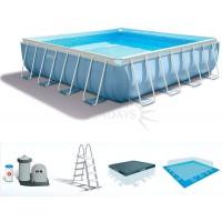 Каркасный бассейн Intex Prism Frame 28766 488х488х122см + фильтр-насос, лестница, тент, подстилка купить в Минске