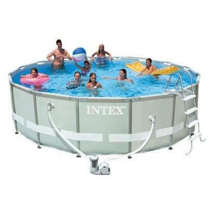 Каркасный бассейн Intex Ultra Frame 28322/54922 488х122 см + фильтр-насос, картриджный фильтр, лестница, подстилка, покрывало купить в Минске