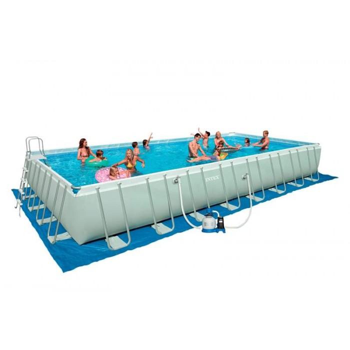 Каркасный бассейн Intex Ultra Frame 28372/54990 975х488х132 см + фильтр-насос, лестница, покрывало, подстилка купить в Минске