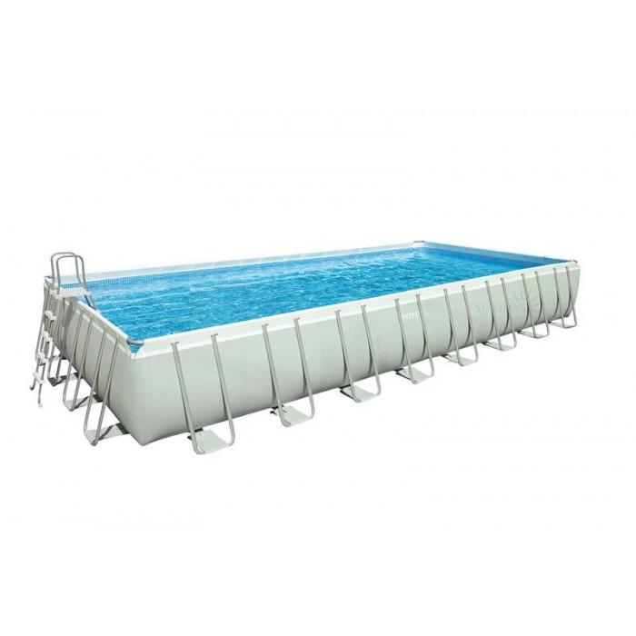 Каркасный бассейн Intex Ultra Frame 28376 975х488х132 см + фильтр-насос, лестница, набор для ручной чистки, подстилка, покрывало, волейбольная сетка купить в Минске