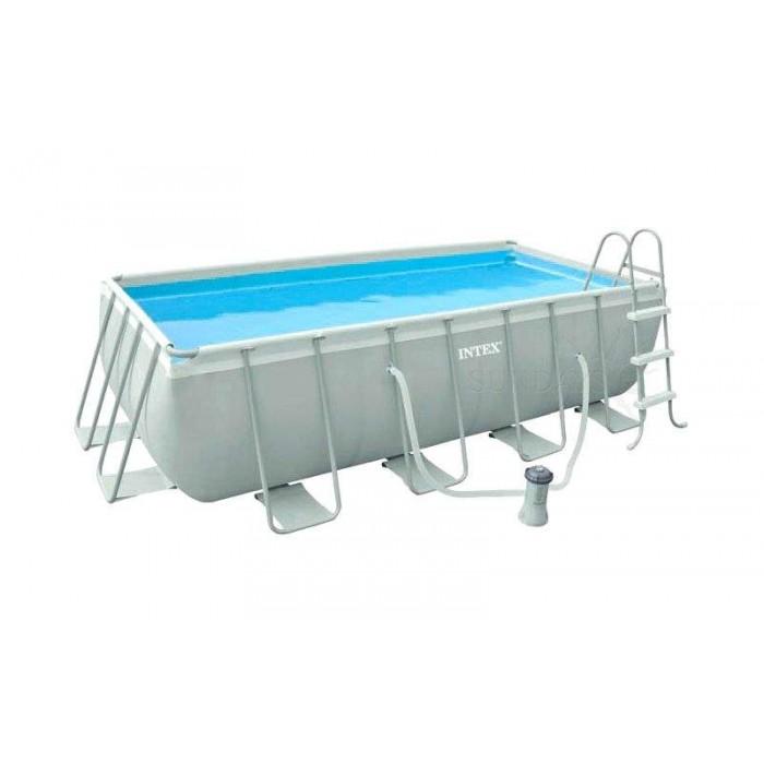 Каркасный прямоугольный бассейн Intex 28350/54182 400х200 см + картриджный фильтр, лестница купить в Минске