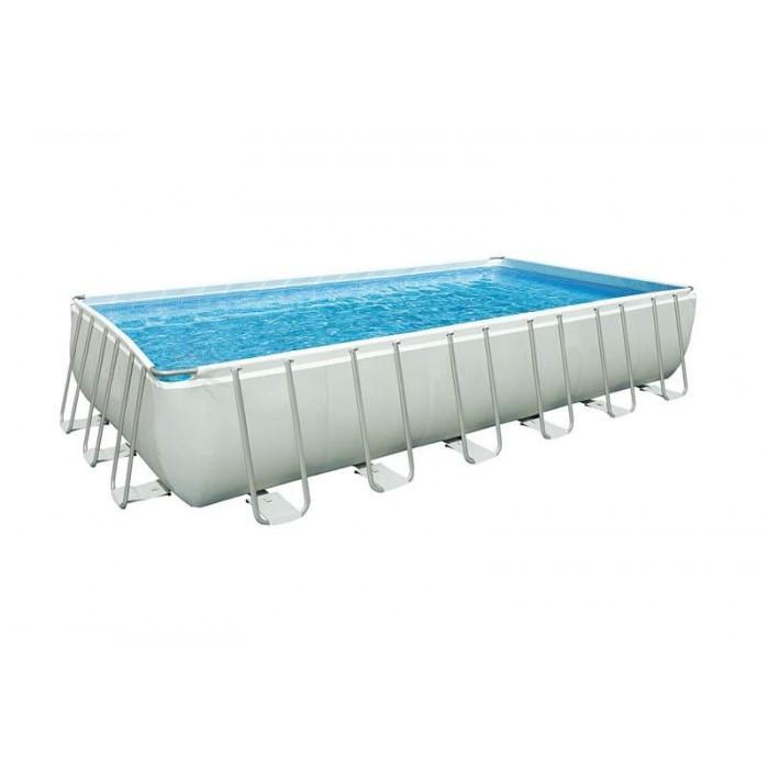 Каркасный прямоугольный бассейн Intex Ultra Frame 28366 732х366х132 см + фильтр-насос c хлоргенератором, набор для ручной чистки, лестница, подстилка, покрывало, волейбольная сетка купить в Минске