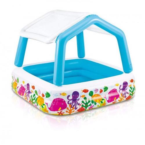 Надувной бассейн с навесом Intex Sun Shade 57470NP 157х157х122 см