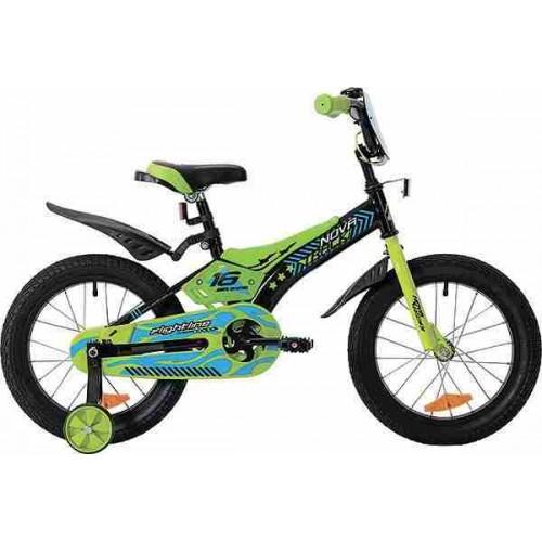 """Велосипед Novatrack Flightline 20"""" (черный/зеленый, 2019)"""
