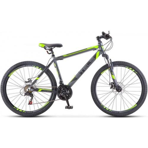 """Велосипед Stels Navigator 600 MD 26"""" V020 антрацитовый лайм (2018)"""